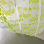 Canopy, Silkscreen on polyester film, glitter, microbeads, 2013