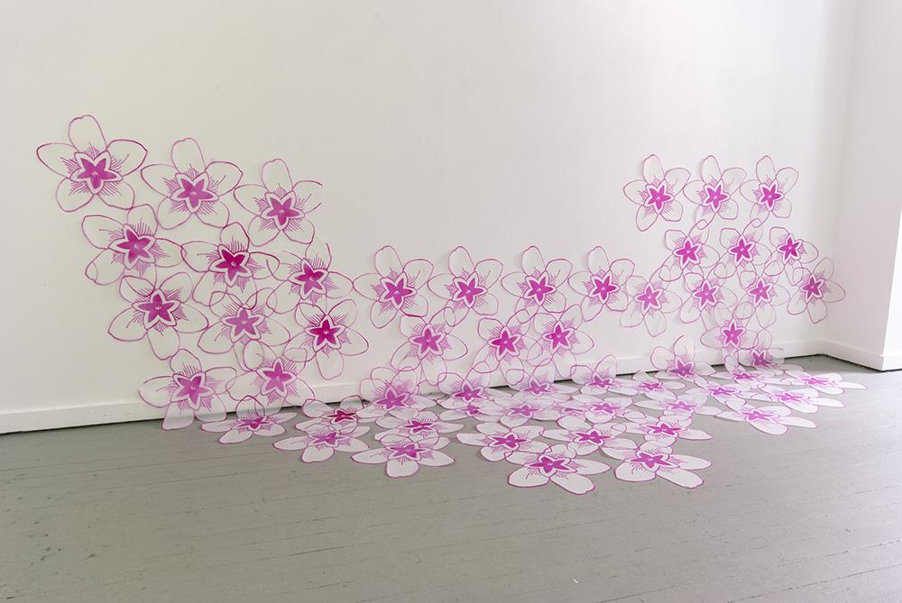 Bloom, Silkscreen on cut polyester film, 2013