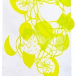 "SupraEcology I Silkscreen, monotype, glitter on paper and cut polyester film 31.5""(H) x 23.5""(W) 2014"