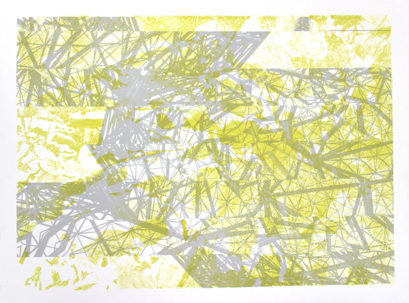 """Post Natural Turf, lithograph and inkjet, 15""""x20"""""""