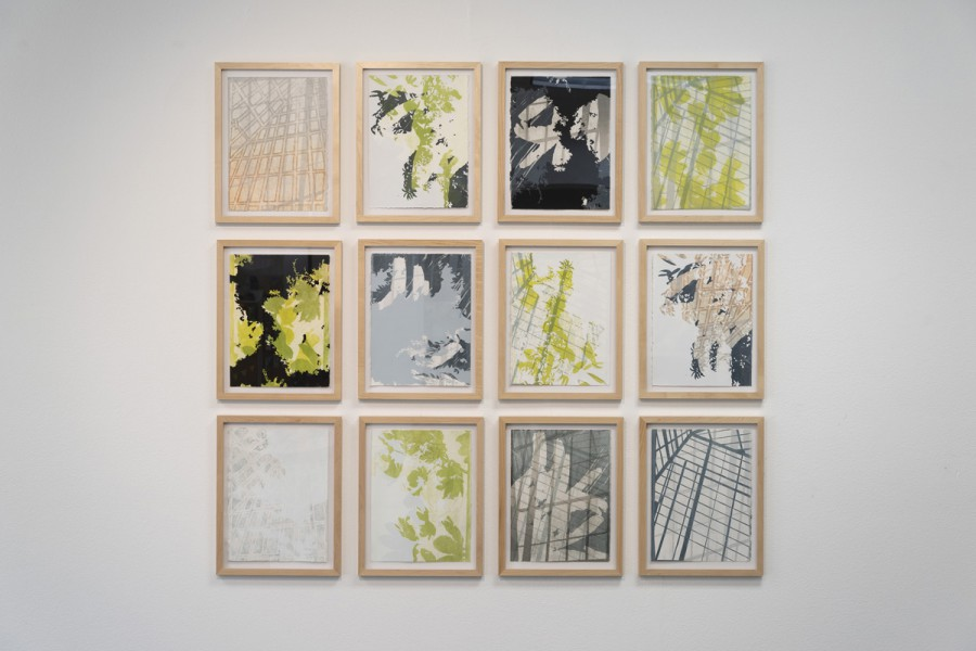"""Closed System, 12 prints, 15""""x11"""" each, lithograph and silkscreen"""